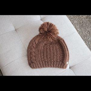 Brown crochet beanie